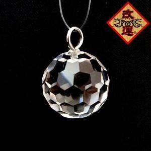 水晶多面カットボール35mm フック付き|yowado