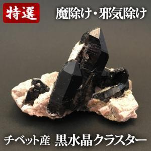 チベット産 黒水晶・モリオン クラスター|yowado