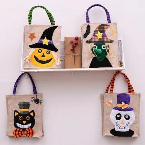 ハロウイン かぼちゃ袋 黒猫袋 髑髏袋 魔女袋 ステージ 学園祭 文化祭ハロウィン布袋 コスチューム...