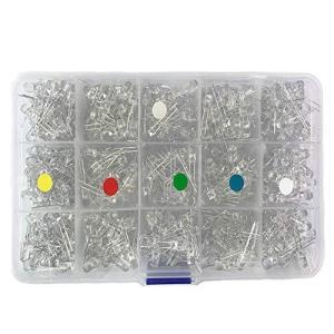 Bestgle発光ダイオード5mm 500ピース透明LEDセットF5 LED電子部品バッグ LED電球 5色ダイオードセ|yoyogiha