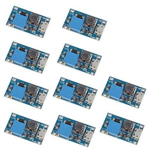 VKLSVAN 10個 2A DC-DC ブーストステップアップ 転換モジュール Micro USB...