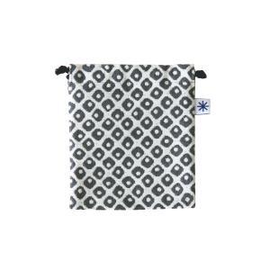 巾着小(鹿の子柄)日本製 綿100% ジャカード織 伝統 米沢織 米織 小紋柄 和柄 お化粧ポーチ 小物入れ 充電器 モダン|yozando-y
