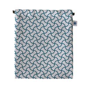 巾着大(分銅つなぎ柄)日本製 綿100% ジャカード織 米沢織 米織 小紋柄 和柄 デジタルカメラ ポータブルゲーム機 スコアケース 宝尽くし|yozando-y