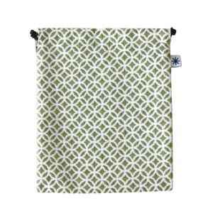 巾着大(七宝柄)日本製 綿100% ジャカード織 米沢織 米織 小紋柄 和柄 デジタルカメラ ポータブルゲーム機 スコアケース|yozando-y