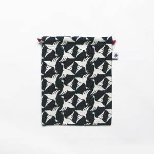 巾着大(限定柄)日本製 綿100% ジャカード 米織小紋 和柄 デジカメ ポータブルゲーム スコアケース 菊花 きっか|yozando-y