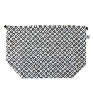 マチ付き巾着(鹿の子柄)日本製 綿100% ジャカード織 米沢織 米織 小紋柄 お弁当袋 お着物 浴衣 和柄 モダン|yozando-y