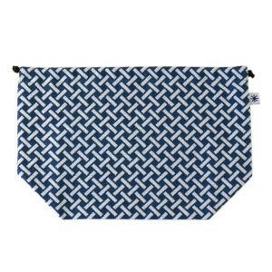 マチ付き巾着(網代柄)日本製 綿100% ジャカード織 米沢織 米織 小紋柄 お弁当袋 お着物 浴衣 和柄 竹|yozando-y