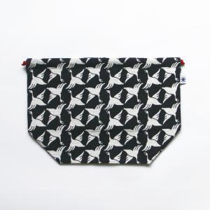 マチ付き巾着(限定柄)日本製 綿100% ジャカード 米織小紋 弁当袋 着物 和 慶事 桜 花見 団子 金魚 鳩|yozando-y