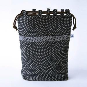 信玄袋(鮫小紋柄)日本製 綿100% ジャカード織 伝統 米沢織 米織 小紋柄 和柄 和装 お着物 作務衣 iPad メンズ|yozando-y