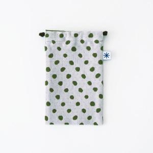 スマートフォン巾着(豆絞り)|yozando-y