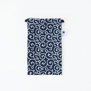 スマートフォン巾着(唐草)|yozando-y