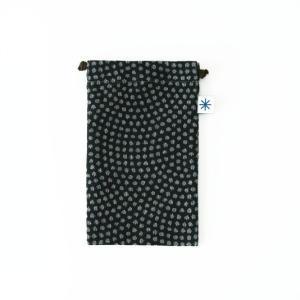 スマートフォン巾着(鮫小紋)|yozando-y