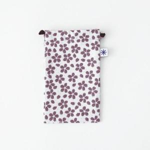 スマートフォン巾着(桜)|yozando-y