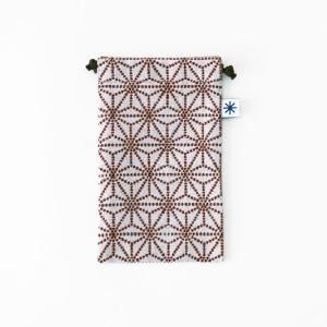 スマートフォン巾着(麻の葉)|yozando-y