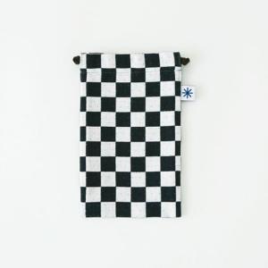 スマートフォン巾着(市松)|yozando-y