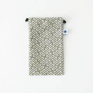 スマートフォン巾着(紗綾形)|yozando-y