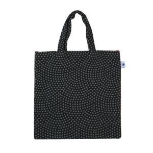 フラットバッグ(鮫小紋柄)日本製 綿100% ジャカード織 伝統 米沢織 米織 小紋柄 和柄 ワンマイル バッグインバッグ メンズ|yozando-y