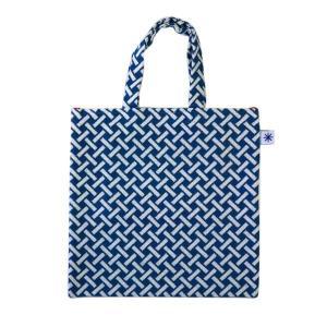 フラットバッグ(網代柄)日本製 綿100% ジャカード織 伝統 米沢織 米織 小紋柄 和柄 ワンマイル バッグインバッグ 竹|yozando-y