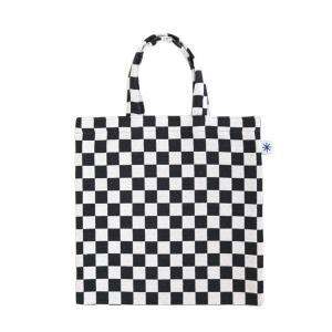 フラットバッグ(市松柄)日本製 綿100% ジャカード織 伝統 米沢織 米織 小紋柄 和柄 ワンマイル バッグインバッグ 格子 モダン|yozando-y