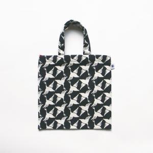 フラットバッグ(限定柄)日本製 綿100% ジャカード 米織 小紋 和 ワンマイル バッグインバッグ 菊花 きっか|yozando-y