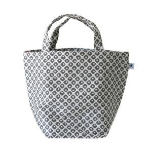 ランチバッグ(鹿の子柄)日本製 綿100% ジャカード織 伝統 米沢織 米織 小紋柄 和柄 お弁当 ミニトート モダン|yozando-y