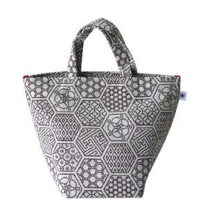 ランチバッグ(亀甲つなぎ柄)日本製 綿100% ジャカード織 伝統 米沢織 米織 小紋柄 和柄 お弁当 ミニトート 幾何学 亀|yozando-y