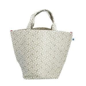 ランチバッグ(紗綾形柄)日本製 綿100% ジャカード織 伝統 米沢織 米織 小紋柄 和柄 お弁当 ミニトート 慶事礼装|yozando-y