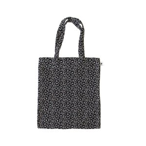 A4 フラットバッグ(唐草柄)日本製 綿100% ジャカード織 伝統 米沢織 米織 小紋柄 和柄 書類 雑誌|yozando-y