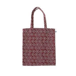 A4 フラットバッグ(梅柄)日本製 綿100% ジャカード織 伝統 米沢織 米織 小紋柄 和柄 書類 雑誌 松竹梅 紅白|yozando-y
