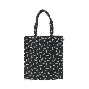 A4 フラットバッグ(茄子柄)日本製 綿100% ジャカード織 伝統 米沢織 米織 小紋柄 和柄 書類 雑誌 富士 鷹|yozando-y