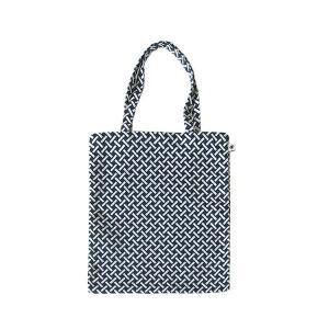 A4 フラットバッグ(網代柄)日本製 綿100% ジャカード織 伝統 米沢織 米織 小紋柄 和柄 書類 雑誌 竹|yozando-y