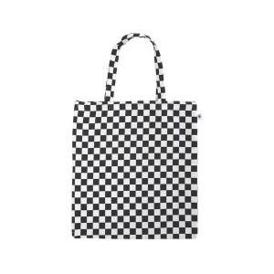 A4 フラットバッグ(市松柄)日本製 綿100% ジャカード織 伝統 米沢織 米織 小紋柄 和柄 書類 雑誌 格子 モダン|yozando-y