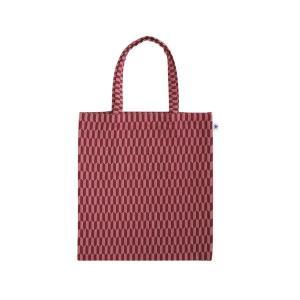 A4 フラットバッグ(矢羽根柄)日本製 綿100% ジャカード織 伝統 米沢織 米織 小紋柄 和柄 書類 雑誌 お着物|yozando-y