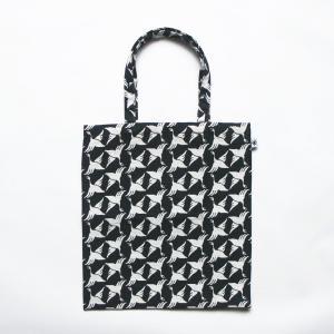 A4 フラットバッグ(限定柄)日本製 綿100% ジャカード 米織小紋 和 書類 雑誌 桜 花見 団子 金魚 鳩|yozando-y