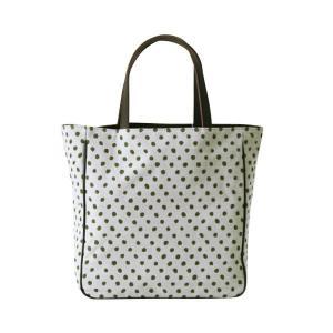 etoffe トート(豆絞り柄)日本製 綿100% ジャカード織 伝統 米沢織 米織 小紋柄 和柄 ビジネストート マザーズバッグ 旅行鞄 ドット|yozando-y