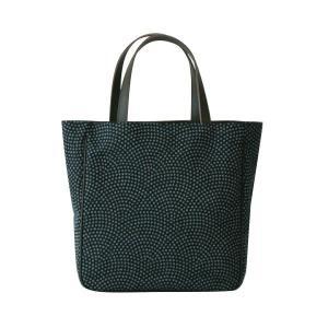 etoffe トート(鮫小紋柄)日本製 綿100% ジャカード織 伝統 米沢織 米織 小紋柄 和柄 ビジネストート マザーズバッグ 旅行鞄 メンズ|yozando-y
