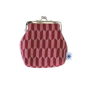 角型がま口(矢羽根柄)日本製 綿100% ジャカード織 伝統 米沢織 米織 小紋柄 和柄 財布 小物入れ カードケース ポイントカード お着物|yozando-y