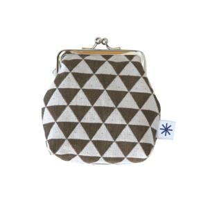 角型がま口(鱗柄)日本製 綿100% ジャカード織 伝統 米沢織 米織 小紋柄 和柄 財布 小物入れ カードケース ポイントカード 能 厄除け|yozando-y