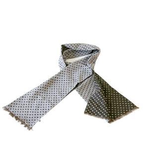 ストール W45(豆絞り柄)日本製 綿100% ジャカード織 伝統 米沢織 米織 小紋柄 和柄 紫外線対策 日焼け UV リバーシブル|yozando-y