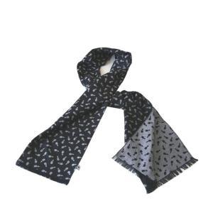 ストール W45(茄子柄)日本製 綿100% ジャカード織 伝統 米沢織 米織 小紋柄 和柄 紫外線対策 日焼け UV リバーシブル|yozando-y