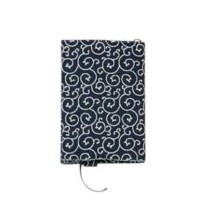 ブックカバー(唐草柄)日本製 綿100% ジャカード織 伝統 米沢織 米織 小紋柄 和柄 文庫 本 読書|yozando-y