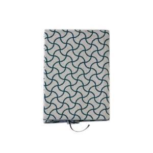 ブックカバー(分銅つなぎ柄)日本製 綿100% ジャカード織 伝統 米沢織 米織 小紋柄 和柄 文庫 本 読書 宝尽くし|yozando-y