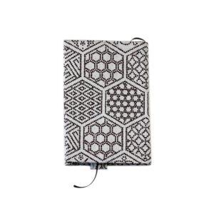 ブックカバー(亀甲つなぎ柄)日本製 綿100% ジャカード織 伝統 米沢織 米織 小紋柄 和柄 文庫 本 読書 幾何学 亀|yozando-y