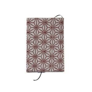 ブックカバー(麻の葉柄)日本製 綿100% ジャカード織 伝統 米沢織 米織 小紋柄 和柄 文庫 本 読書 産着 肌着 子育て|yozando-y