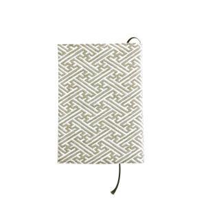 ブックカバー(紗綾形柄)日本製 綿100% ジャカード織 伝統 米沢織 米織 小紋柄 和柄 文庫 本 読書 慶事礼装|yozando-y