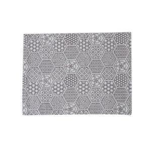 ランチョンマット(亀甲つなぎ柄)日本製 綿100% ジャカード織 伝統 米沢織 米織 小紋柄 和柄 和装 テーブルウェア 食卓 幾何学 亀|yozando-y