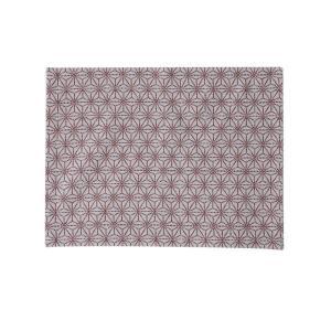 ランチョンマット(麻の葉柄)日本製 綿100% ジャカード織 伝統 米沢織 米織 小紋柄 和柄 和装 テーブルウェア 食卓 子育て|yozando-y