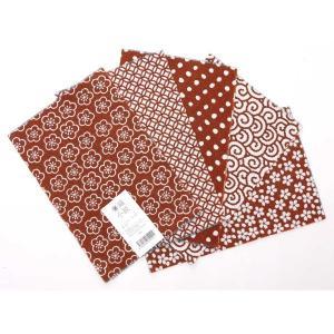 カットクロスセット(えび色)日本製 綿100% ジャカード織 伝統 米沢織 米織 小紋柄 和柄 ハンドメイド 手作り yozando-y