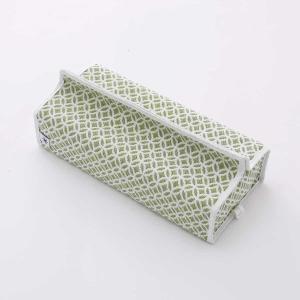 テッシュカバー(七宝柄)日本製 綿100% ジャカード織伝統 米沢織 米織 小紋柄 和柄 tente インテリア プレゼント 新居|yozando-y