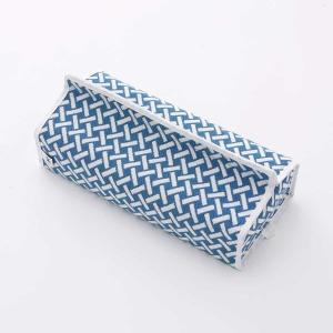 テッシュカバー(網代柄)日本製 綿100% ジャカード織伝統 米沢織 米織 小紋柄 和柄 tente インテリア プレゼント 新居 竹|yozando-y